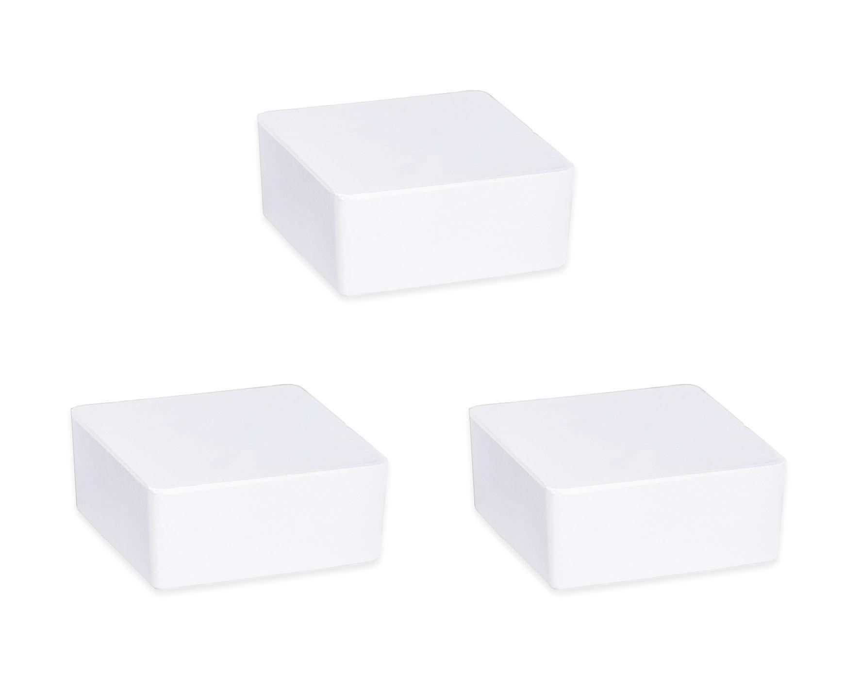 Wenko Raumentfeuchter Cube Nachfüller 1000 g mit Orangenduft, 3er Set