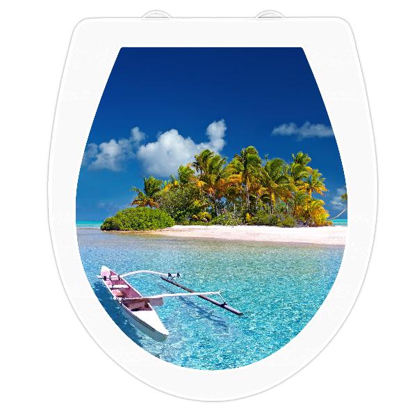 WC-Sitz Aufkleber Karibische Insel