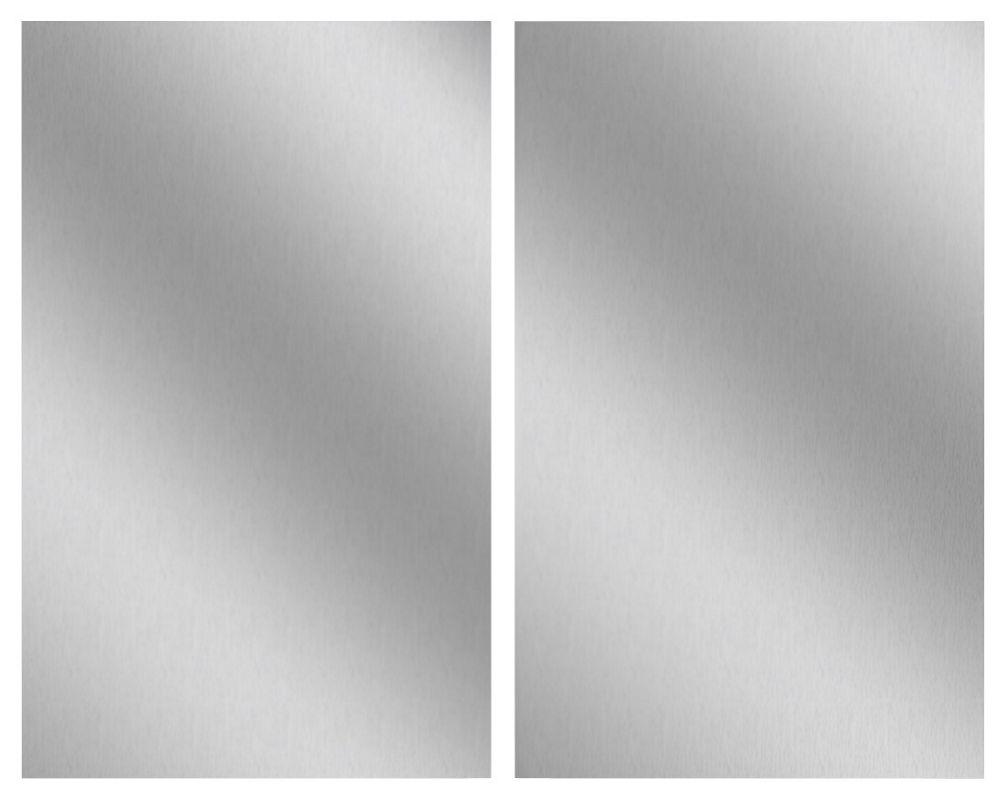 Herdabdeckplatte Edelstahl, 2er Set, für Glaskeramik-Kochfelder