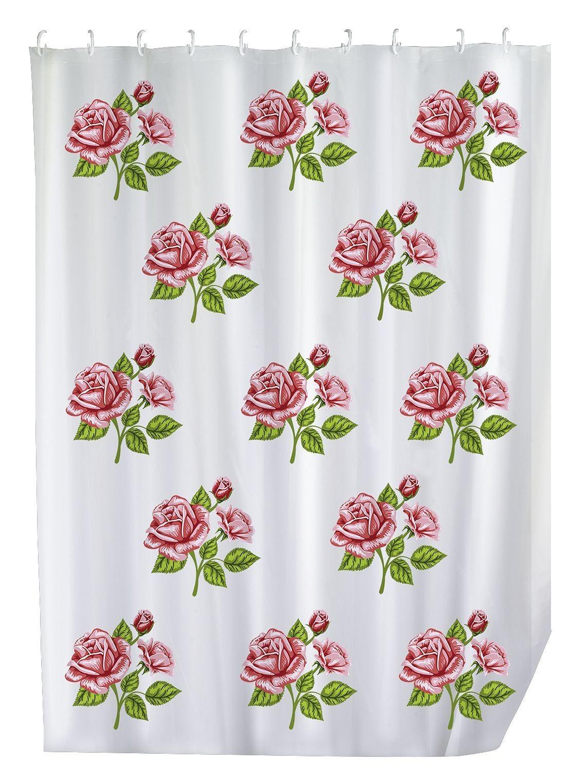 Duschvorhang Rosen-Romantik, 180 x 200 cm, waschbar