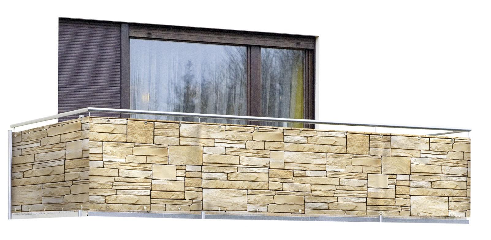 Sichtschutz Mauer, für Balkon und Terrasse