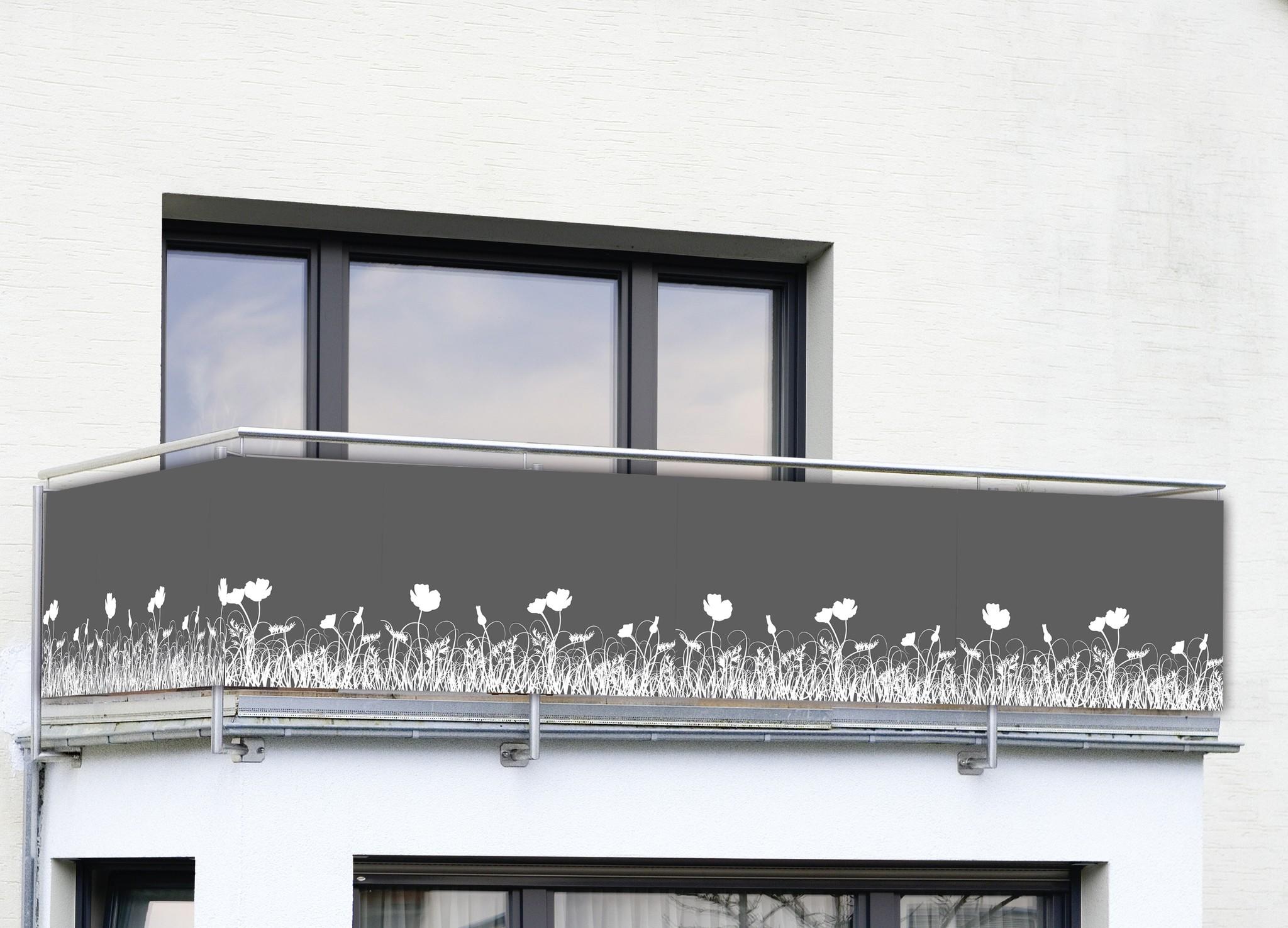 Sichtschutz Anthrazit, für Balkon und Terrasse
