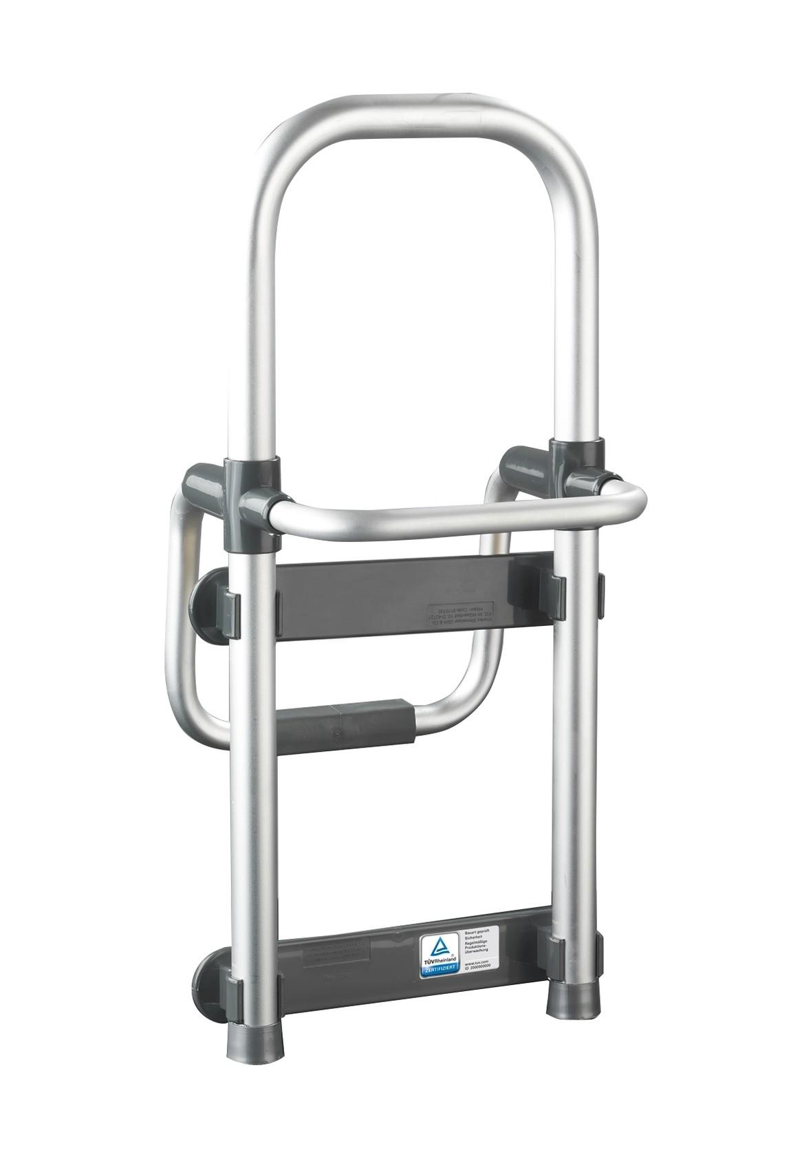 Badewannen-Einstiegshilfe Secura Silber, verstellbar, 120 kg Tragkraft