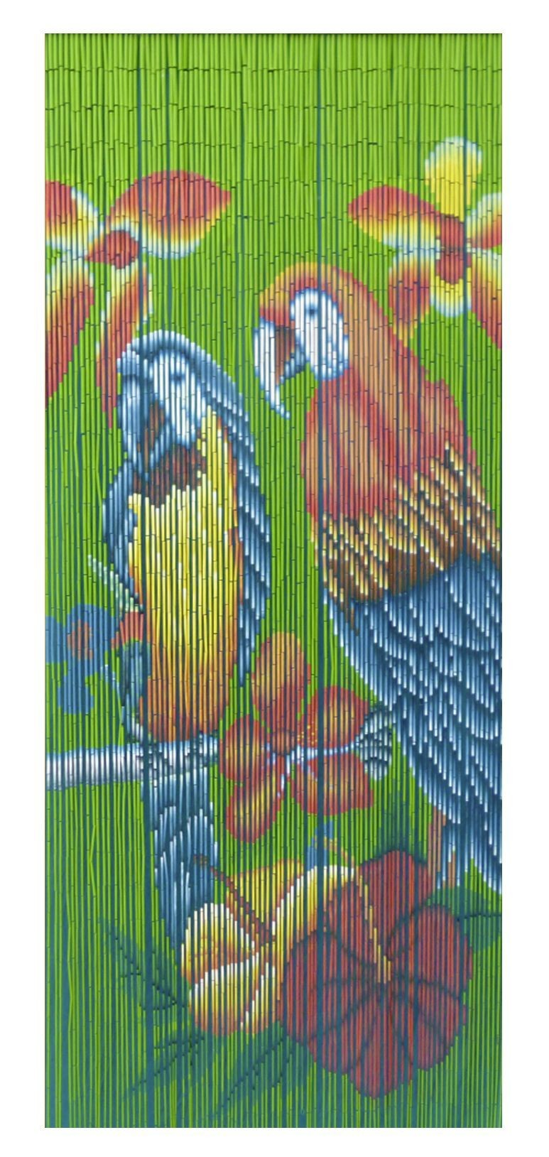 Bambusvorhang Papagei