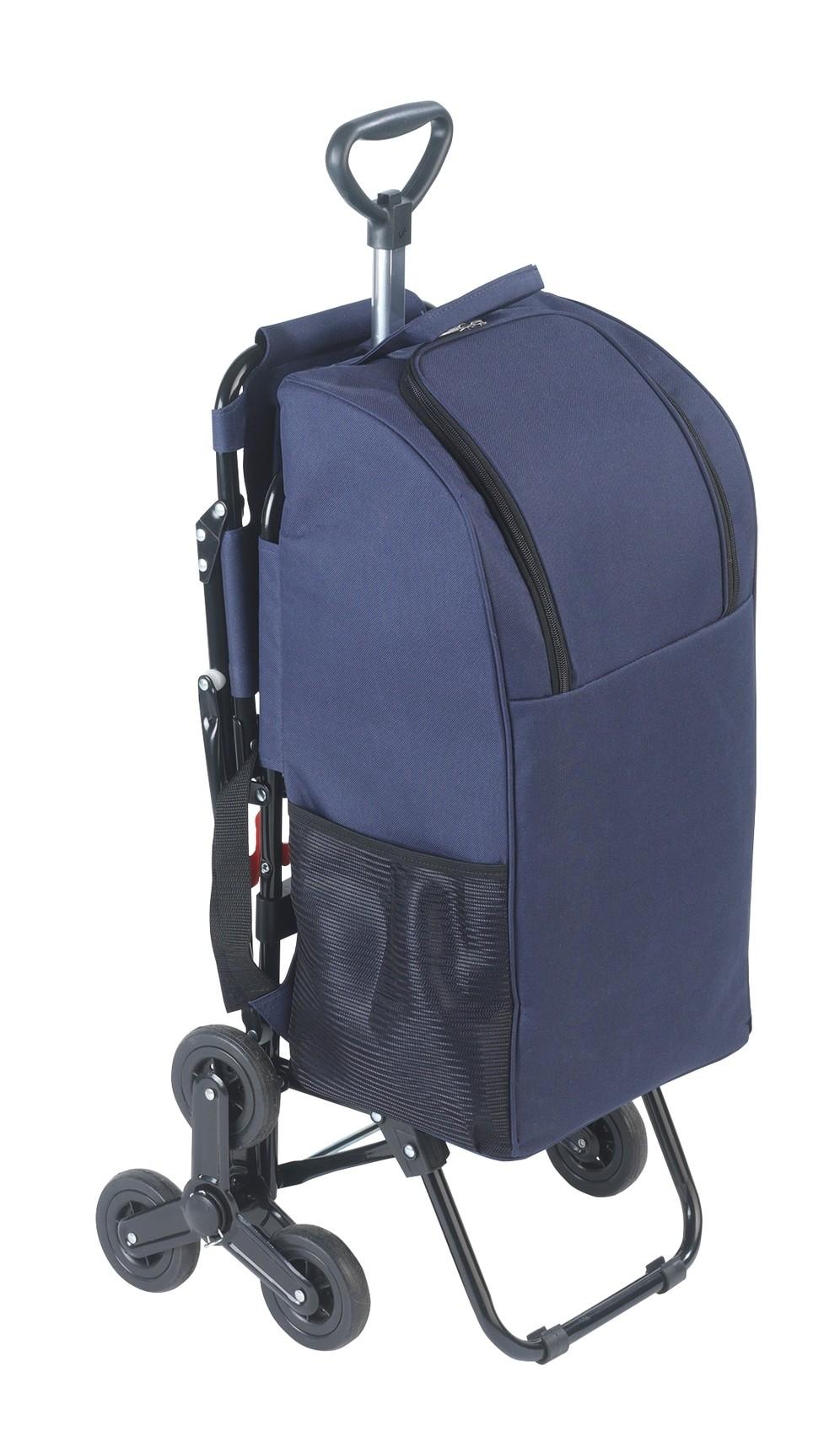 Wenko Einkaufstrolley mit Sitz, Dreirad-System fürs Treppensteigen