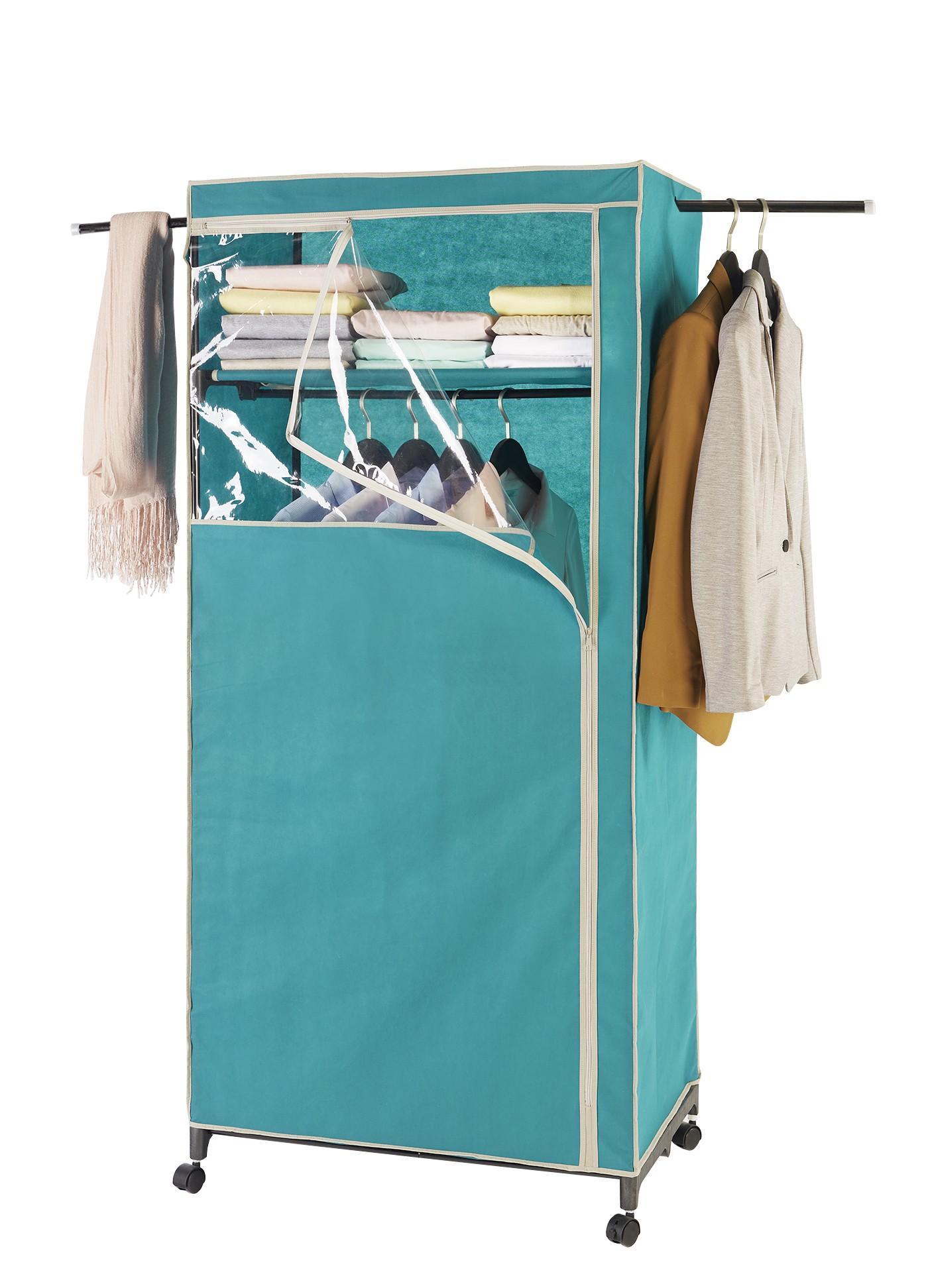 Wenko Kleiderschrank 2in1 Breeze, mit Garderobenarmen und Ablage