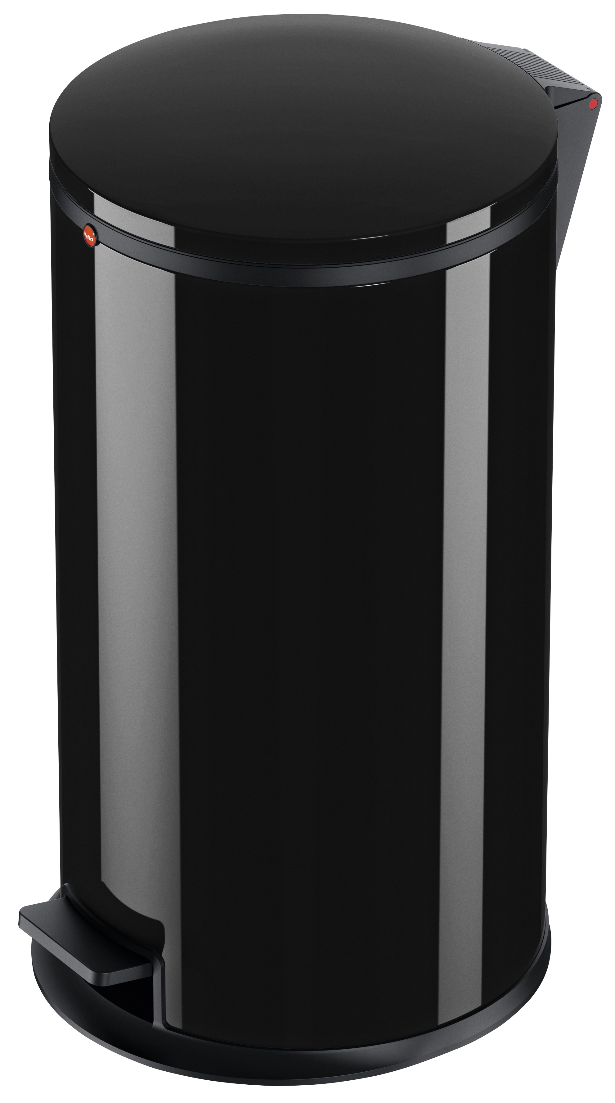 Hailo Pure L, Stahlblech schwarz, 25 Liter, Inneneimer: verzinkt, Tret-Abfallsammler