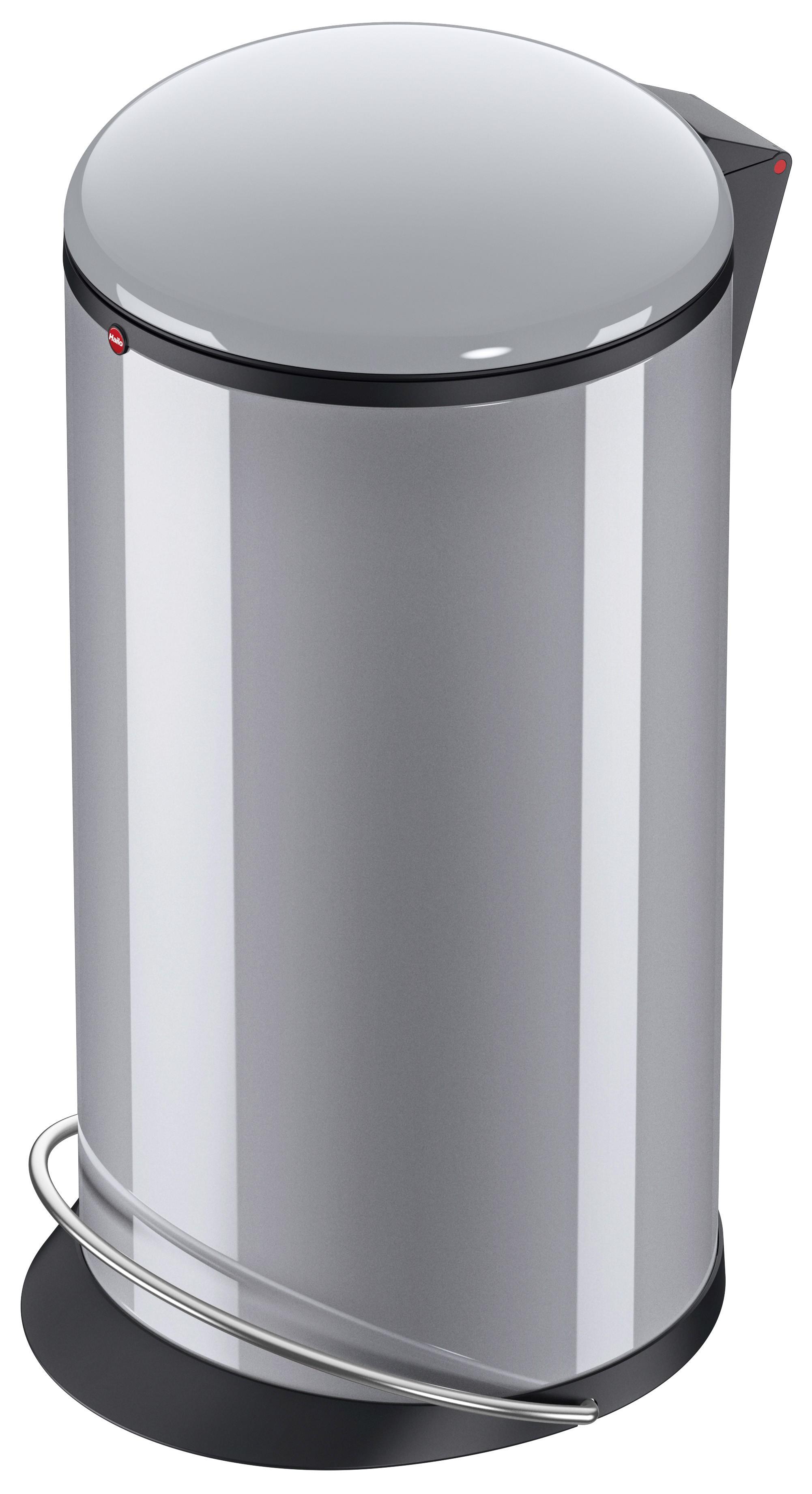 Hailo Harmony L, silber, 20 Liter, Inneneimer: Kunststoff, schwarz, Tret-Abfallsammler