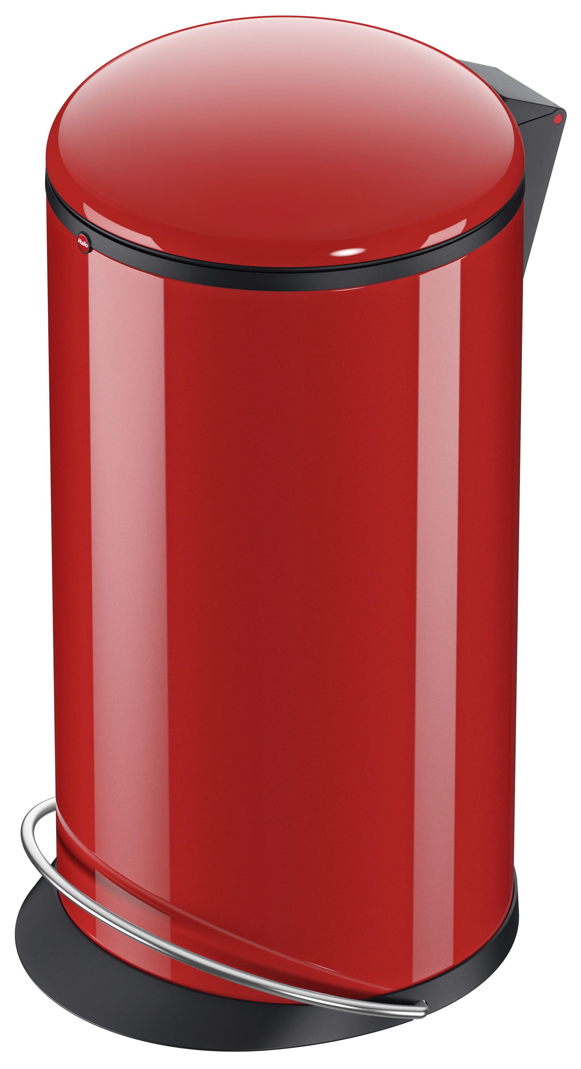 Hailo Harmony L, rot, 20 Liter, Inneneimer: Kunststoff, schwarz, Tret-Abfallsammler