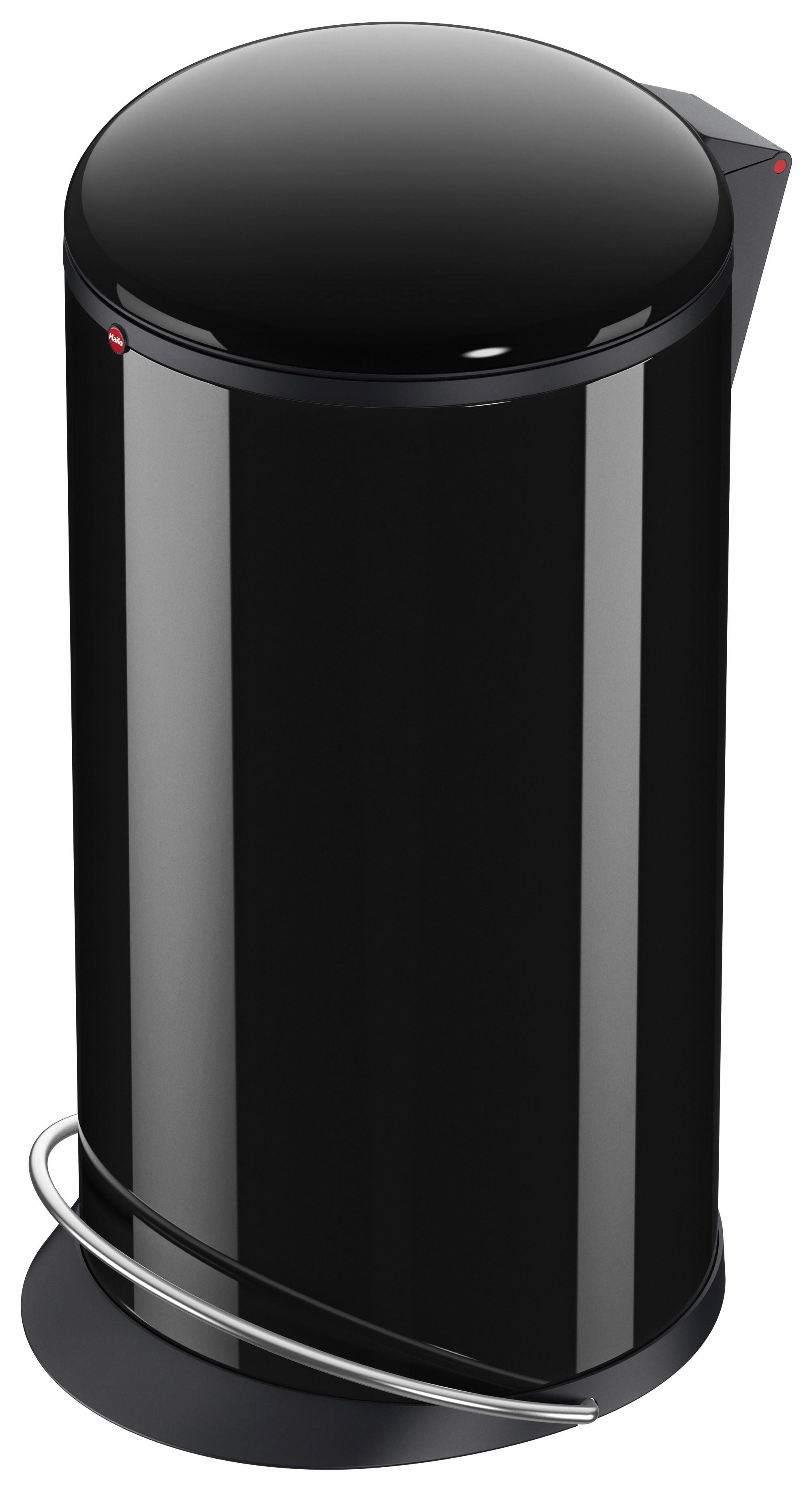 Hailo Harmony L, schwarz, 20 Liter, Inneneimer: Kunststoff, schwarz, Tret-Abfallsammler