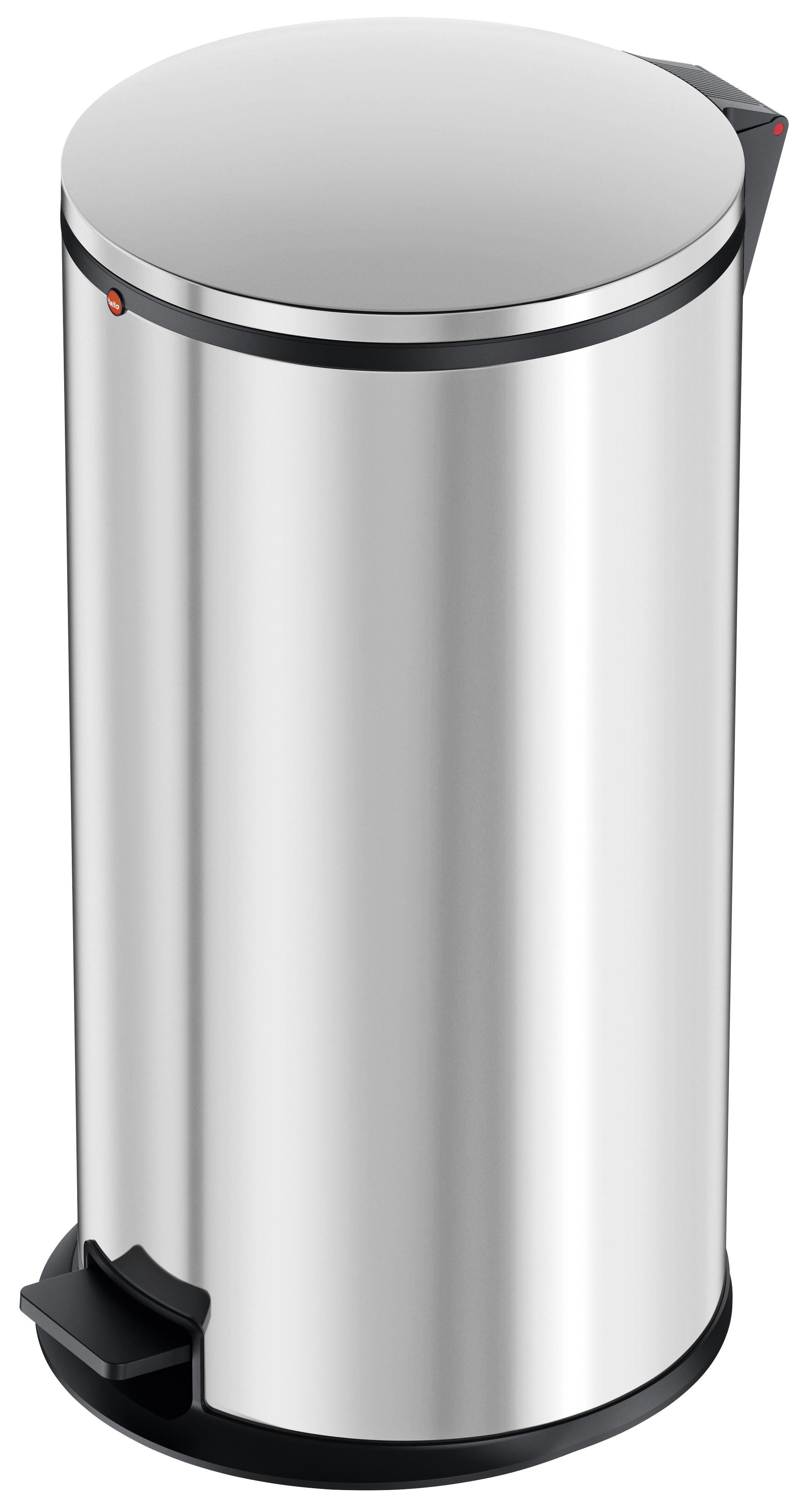 Hailo Pure XL, Edelstahl, 44 Liter, Inneneimer: verzinkt, Tret-Abfallsammler