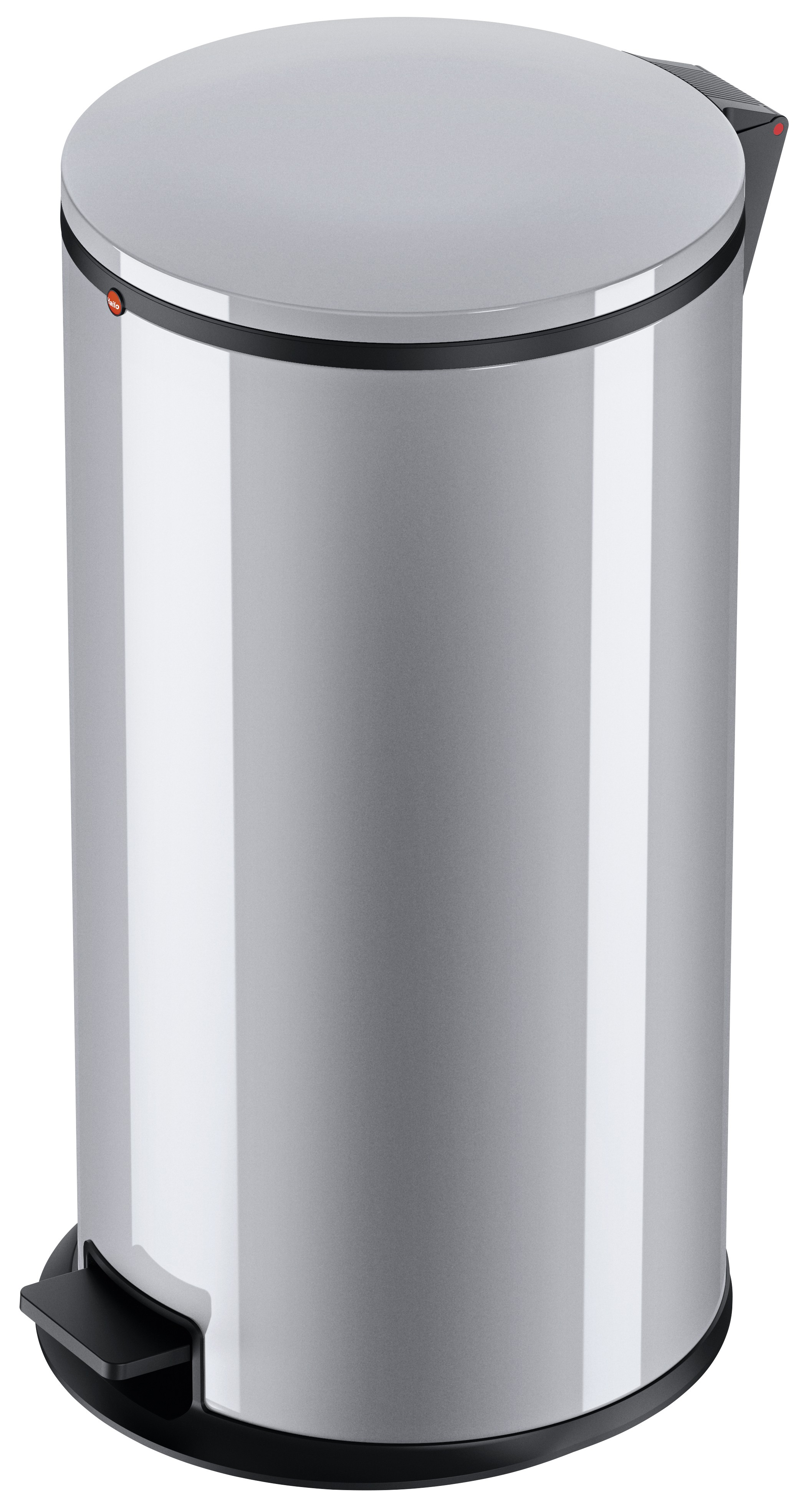 Hailo Pure XL, Stahlblech silber, 44 Liter, Inneneimer: verzinkt, Tret-Abfallsammler