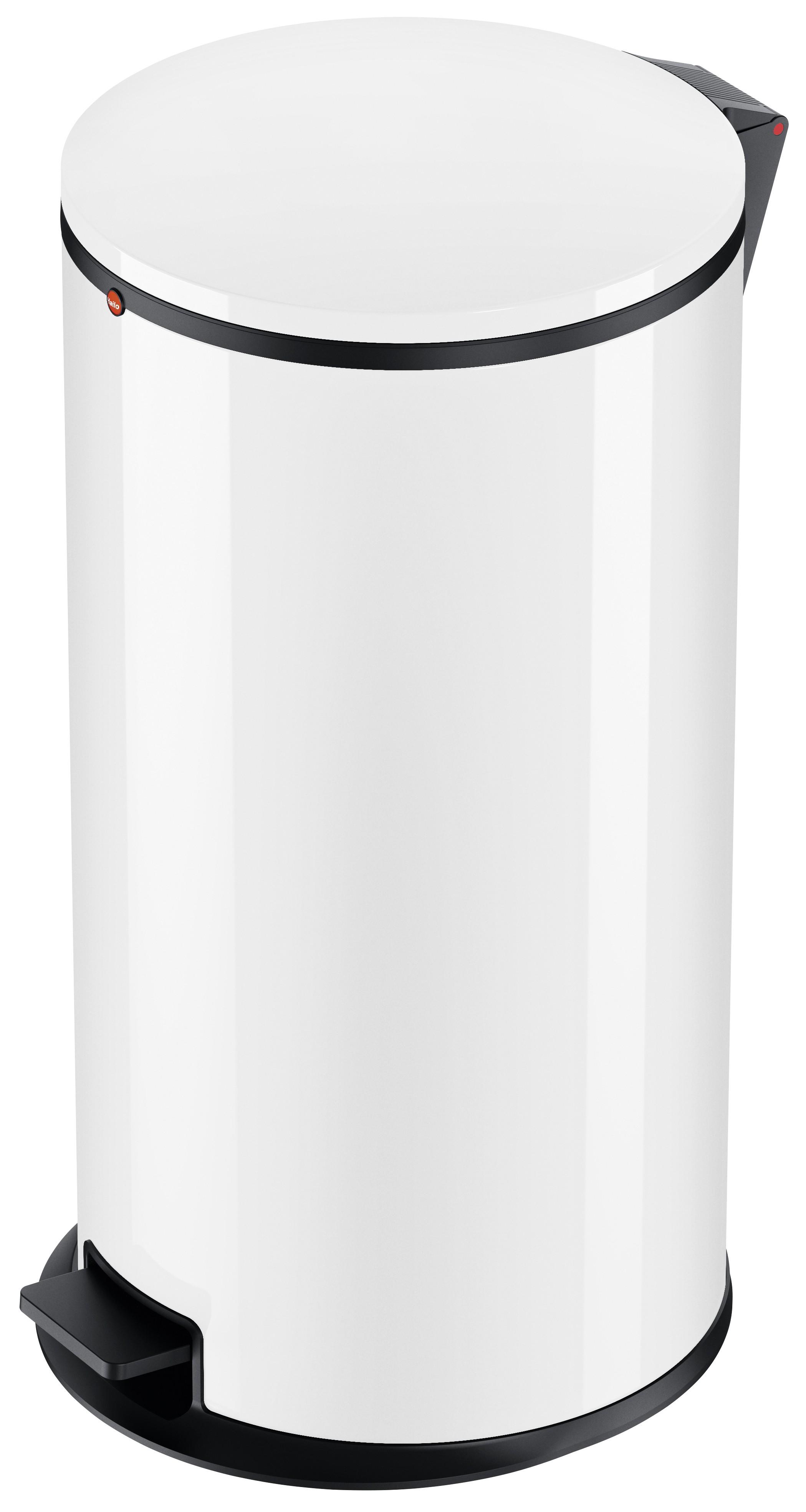 Hailo Pure XL, Stahlblech weiß, 44 Liter, Inneneimer: verzinkt, Tret-Abfallsammler