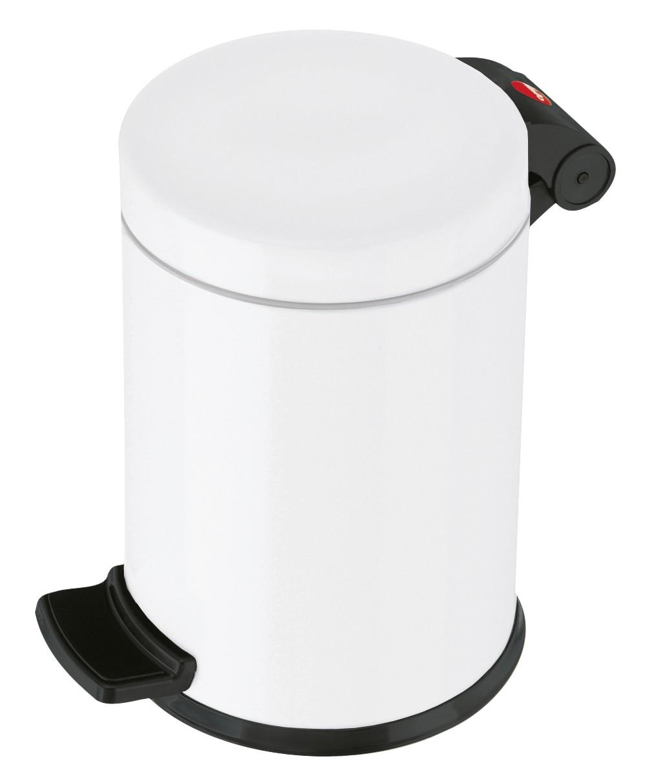 Hailo Solid S, weiß, 3 Liter, Inneneimer: verzinkt, Tret-Kosmetikeimer