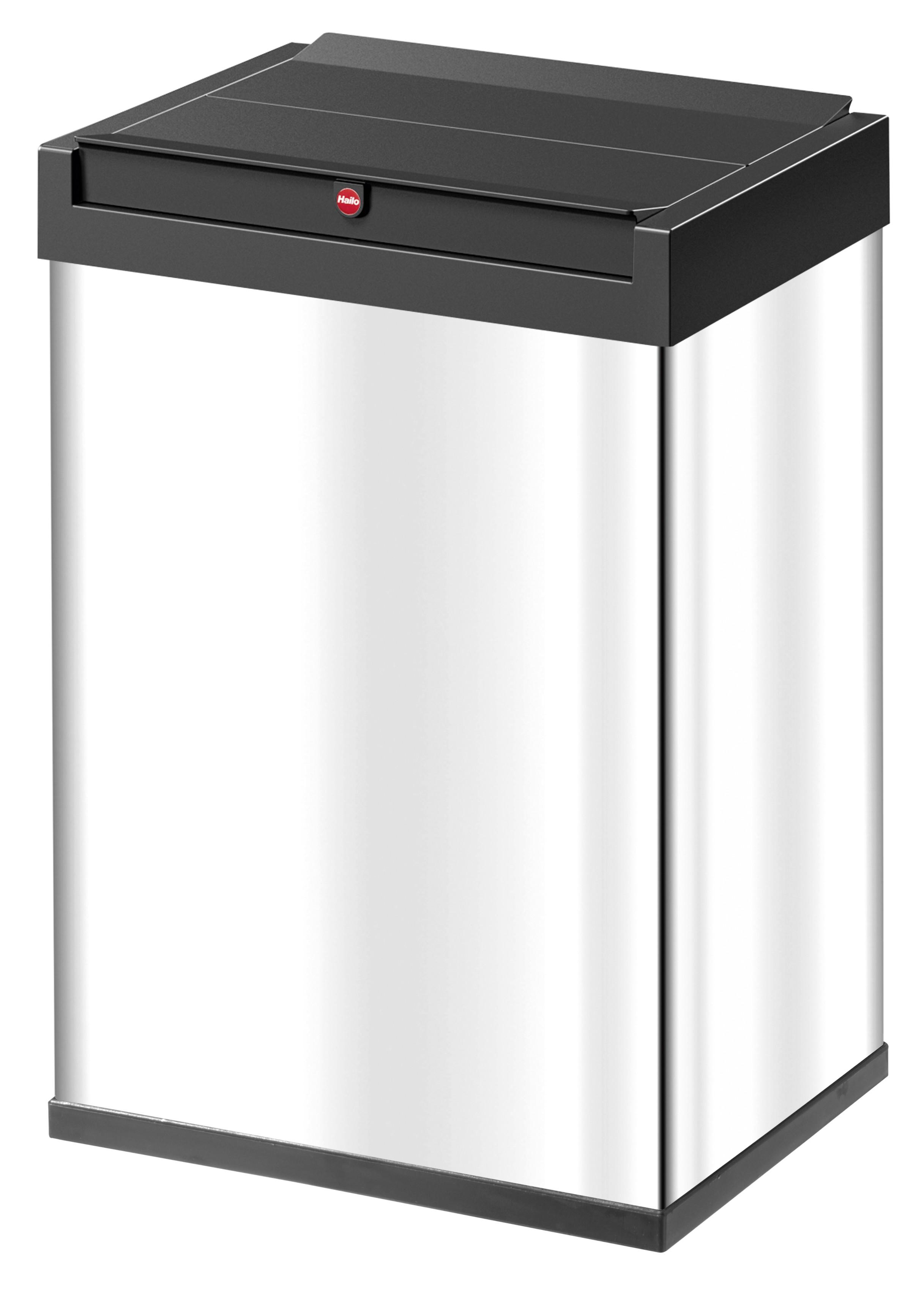Hailo Big-Box Swing L, Edelstahl, 35 Liter, Großraum-Abfallbox