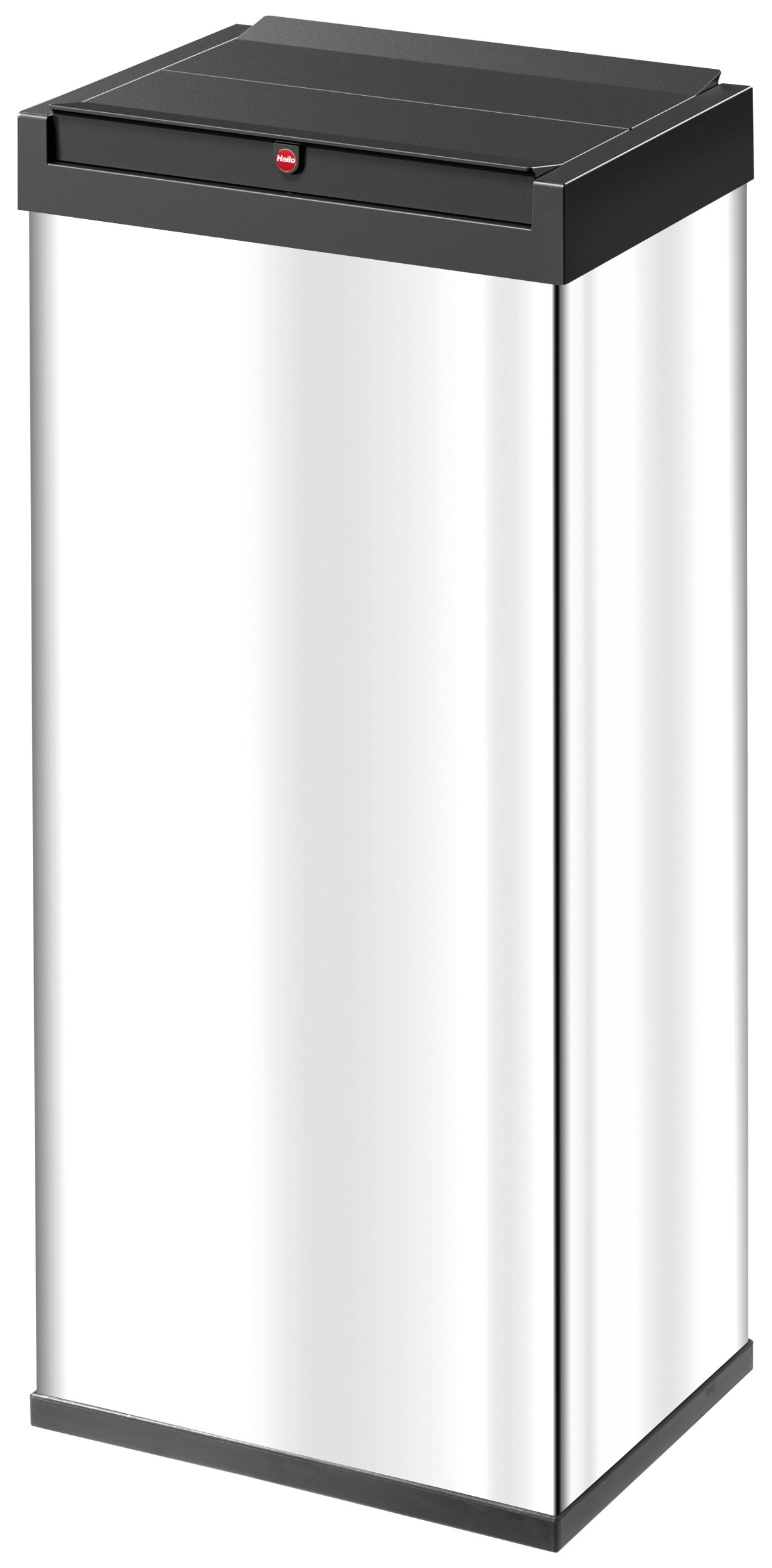 Hailo Big-Box Swing XL, Edelstahl, 52 Liter, Großraum-Abfallbox