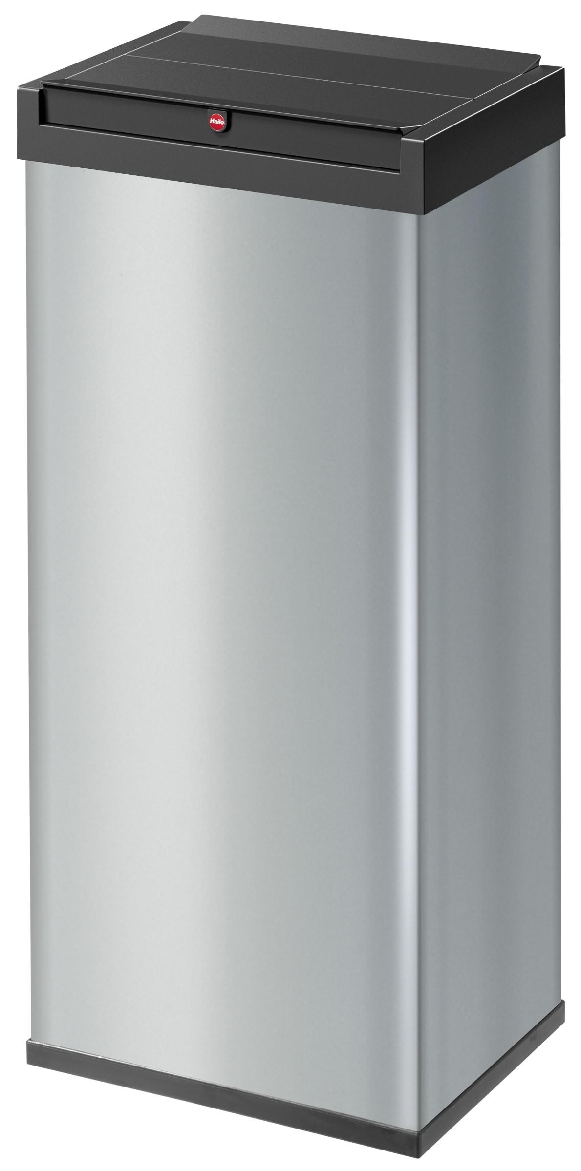 Hailo Big-Box Swing XL, silber, 52 Liter, Großraum-Abfallbox