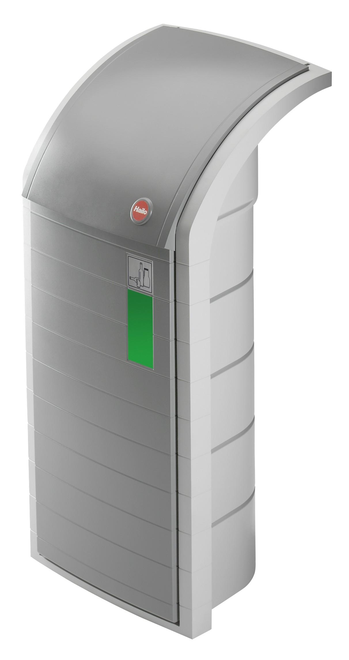 Hailo ProfiLine WSB-K, aus Kunststoff, grau , Wertstoffbehälter