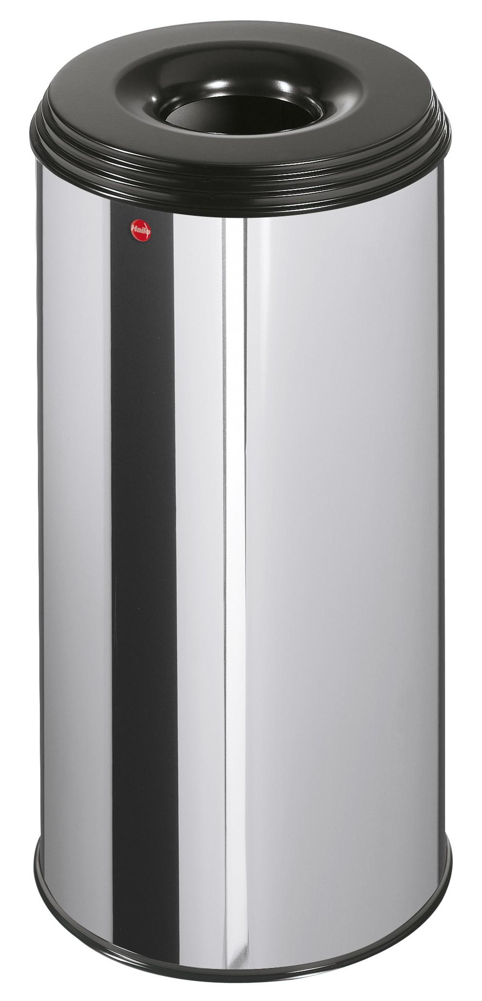 Hailo ProfiLine Safe XL, 45 Liter, Edelstahl, Flammenlöschender Papierkorb