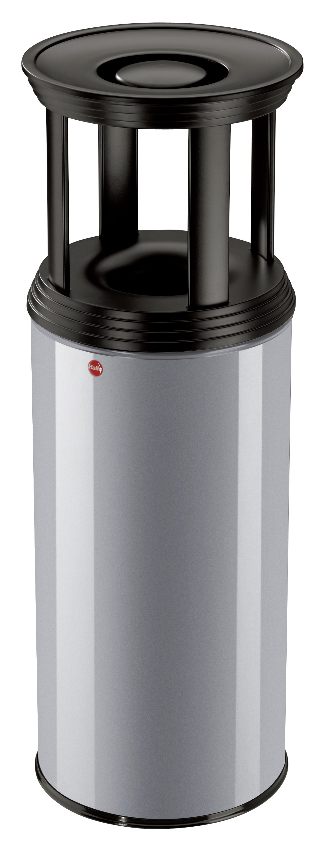 Hailo ProfiLine Combi plus XL, 45 Liter, Silber, Ascher-Papierkorb-Kombination