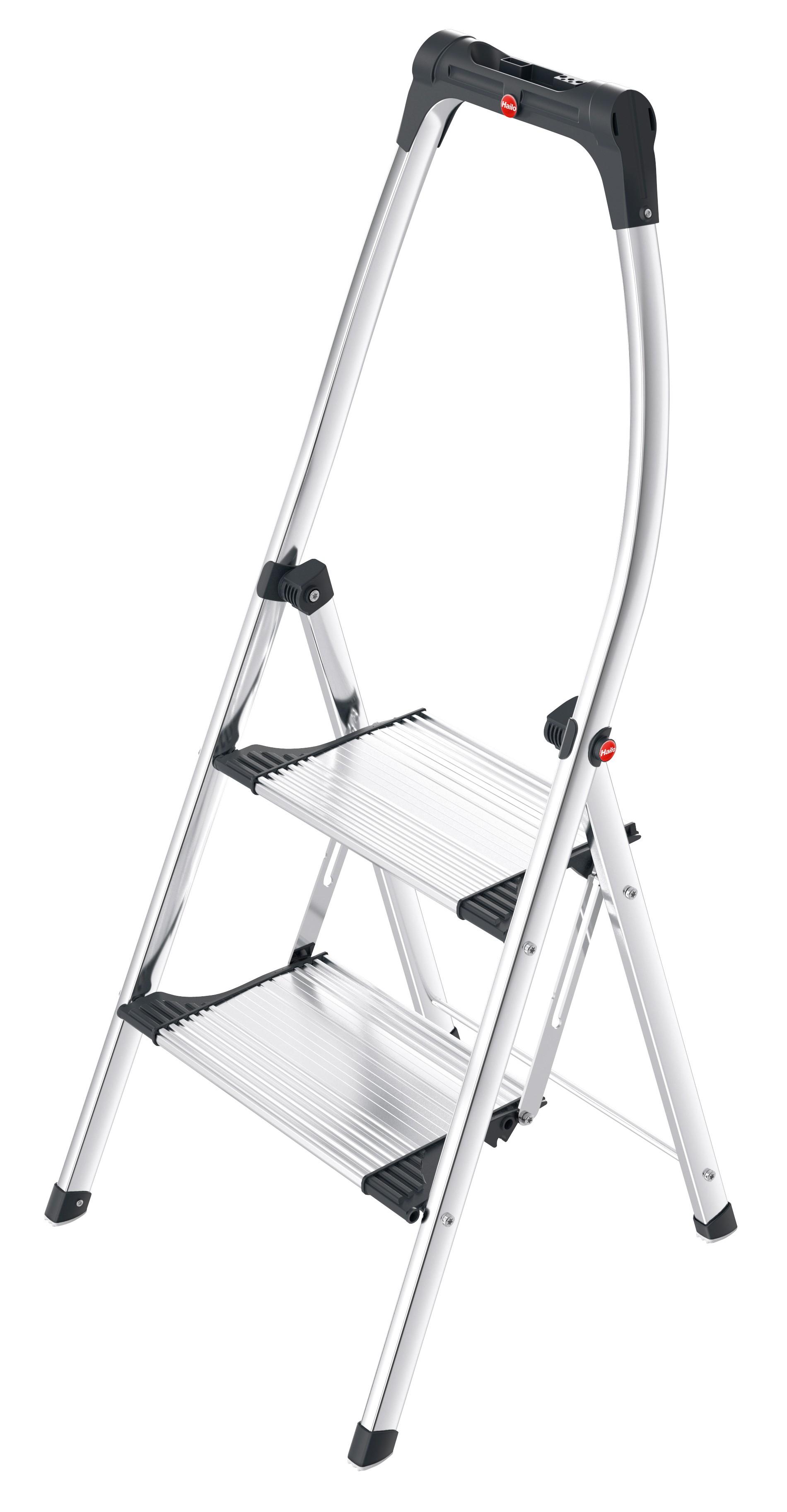 Hailo K100 TopLine, 2 Stufen, Klapptritt mit Soft-Grip Sohle