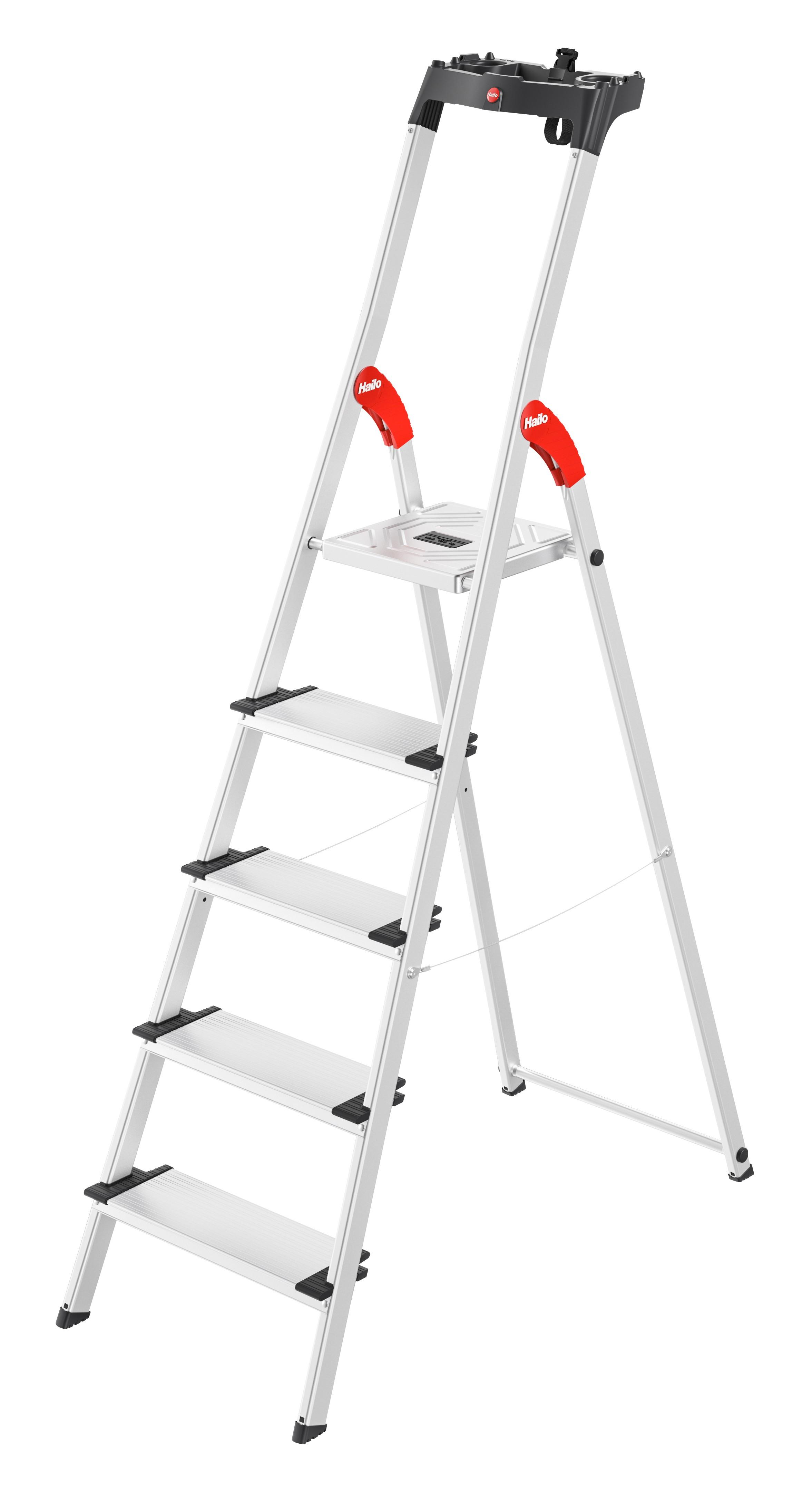 Hailo L80 ComfortLine, 5 Stufen, Stufenstehleiter