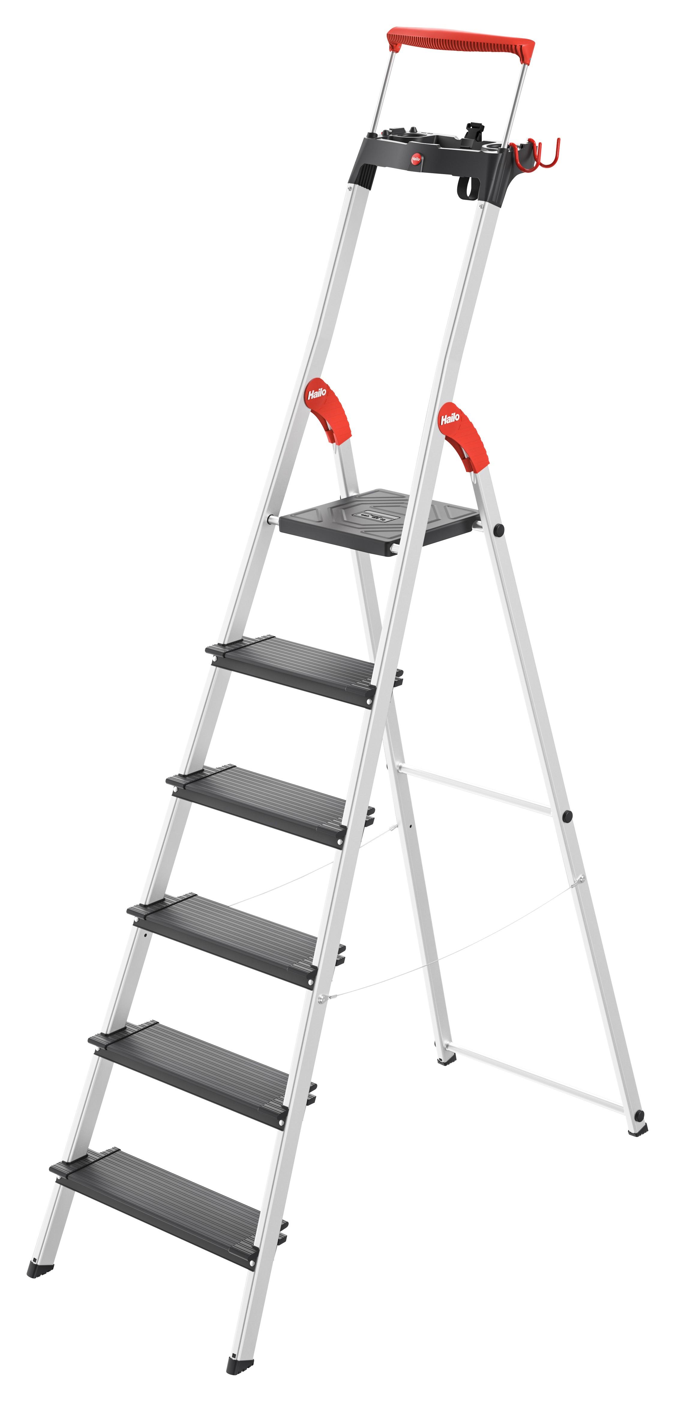 Hailo L100 TopLine, 6 Stufen, Stufenstehleiter