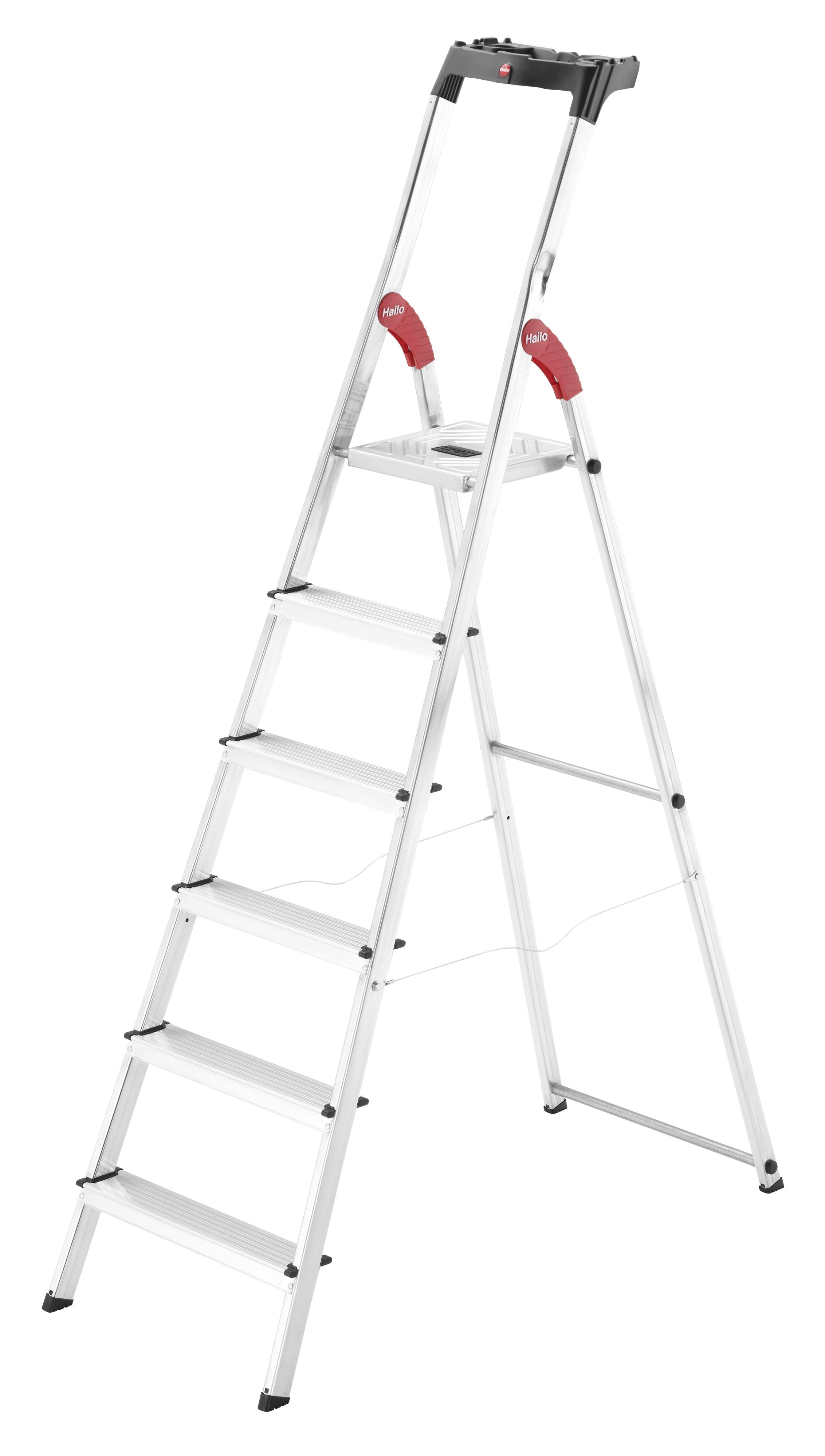 Hailo L60 StandardLine, 6 Stufen, Stufenstehleiter