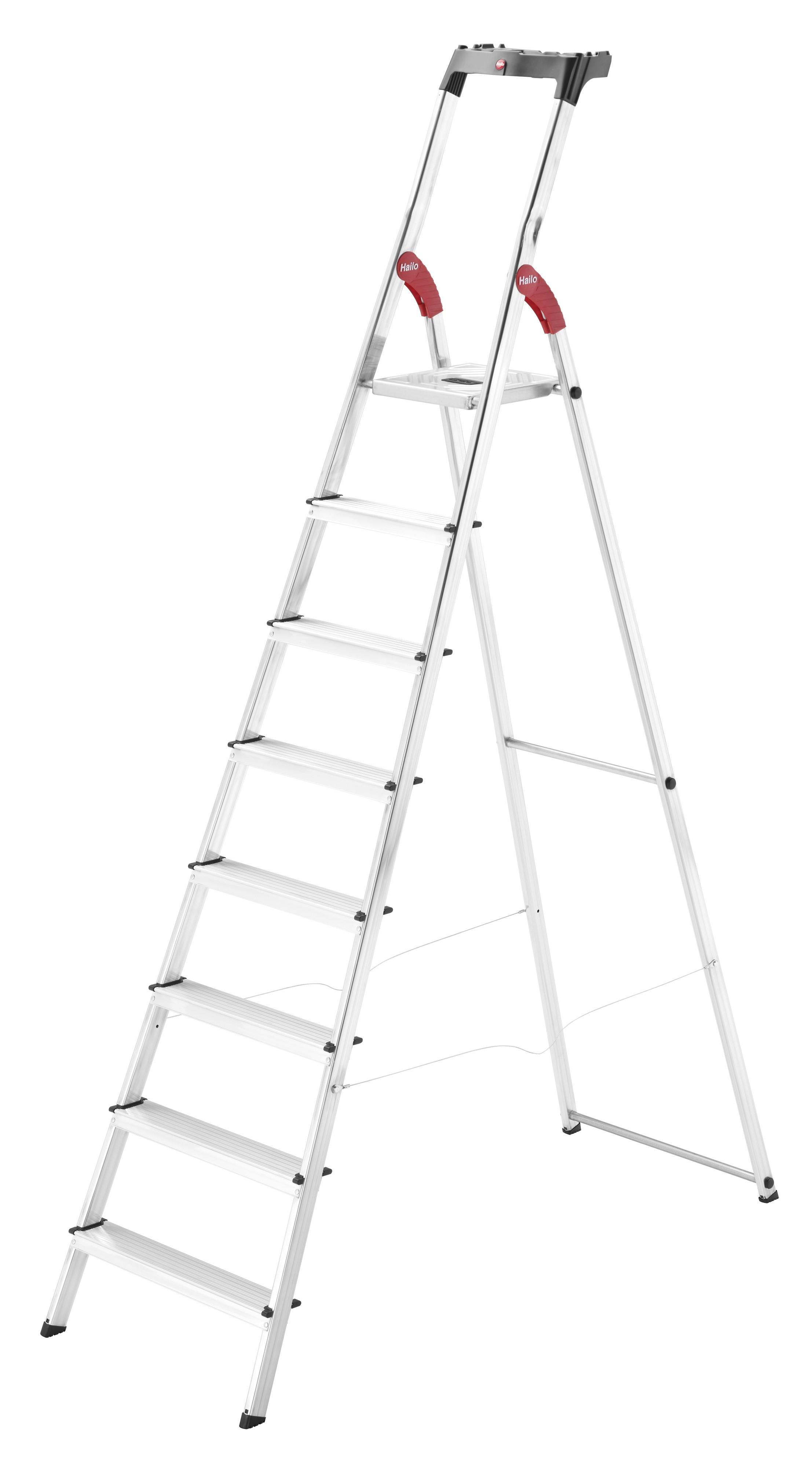 Hailo L60 StandardLine, 8 Stufen, Stufenstehleiter