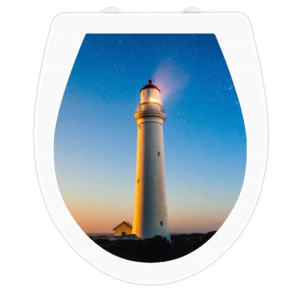 WC-Sitz Aufkleber Leuchtturm
