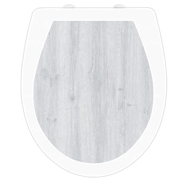 WC-Sitz Aufkleber Holz Eiche hell