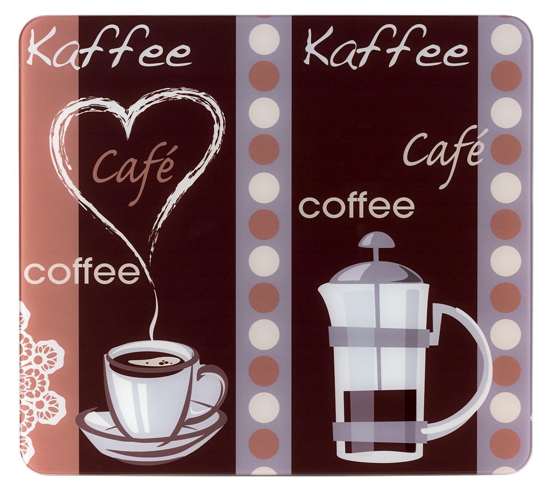 Multi-Platte Kaffeeduft, für Glaskeramik Kochfelder, Schneidbrett