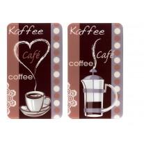 Herdabdeckplatte Universal Kaffeeduft, 2er Set, für alle Herdarten