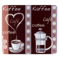Wenko Multi-Platte Kaffeeduft, für Glaskeramik Kochfelder, Schneidbrett