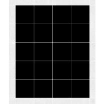 Fliesenaufkleber schwarz, ca. 1 m²