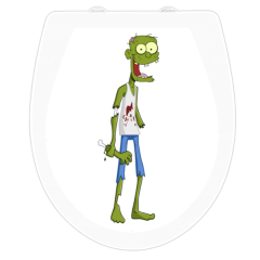 WC-Sitz Aufkleber Zombie
