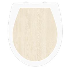WC-Sitz Aufkleber Holz Birke