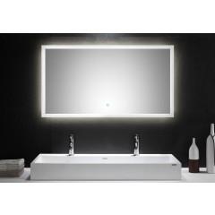 Posseik LED Spiegel 120x65 cm mit Touch Bedienung EEK: F