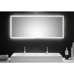 Posseik LED Spiegel 140x60 cm mit Touch Bedienung EEK: F