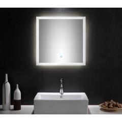 Posseik LED Spiegel 60x60 cm mit Touch Bedienung EEK: F