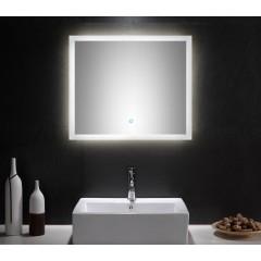 Posseik LED Spiegel 70x60 cm mit Touch Bedienung EEK: F