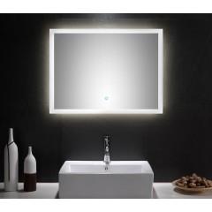 Posseik LED Spiegel 80x60 cm mit Touch Bedienung EEK: F