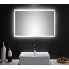 Posseik LED Spiegel 90x60 cm mit Touch Bedienung EEK: F