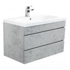 Posseik Badmöbel Kali 70 beton mit grifflosen Schubladen