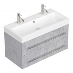 Posseik Doppelbadmöbel LIVONO beton