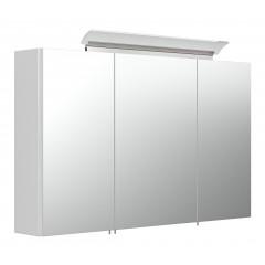 Posseik Spiegelschrank 100 inklusive  LED-Acrylglaslampe weiß weiss hochglanz
