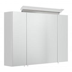 Posseik Spiegelschrank 90 inklusive  LED-Acrylglaslampe weiß weiss hochglanz EEK: F
