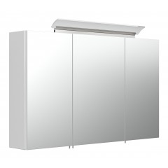 Posseik Spiegelschrank 100 inklusive LED-Acrylglaslampe weiss hochglanz