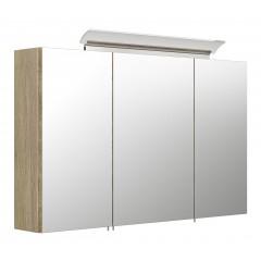 Posseik Spiegelschrank 100 inklusive LED-Acrylglaslampe eiche hell