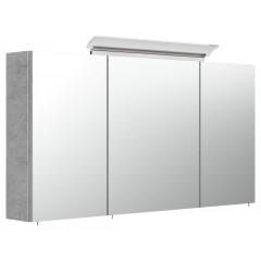 Posseik Spiegelschrank 120cm inkl. Design LED-Lampe und Glasböden beton